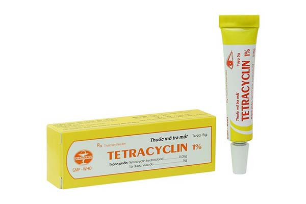 Thuốc mỡ tra mắt giúp mắt gà bớt sưng Tetracyclin