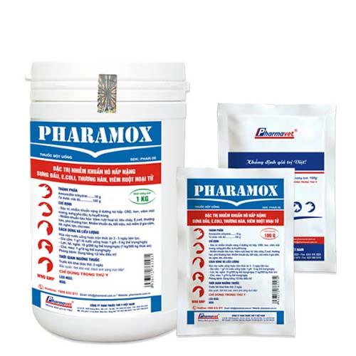 Thuốc Pharamox chữa bệnh ga  bị sưng mắt chảy nước mắt có bọt