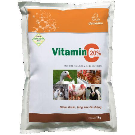 Vitamin và khoáng chất cho gà với vitamin C